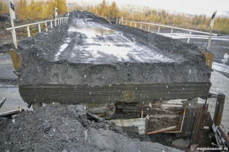 Тенькинская трасса, аварийный мост