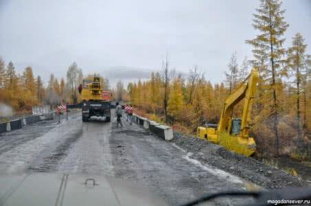 Тенькинская трасса, ремонт