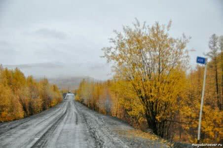 Тенькинская трасса 439 км, перед мостом р. Аян-Юрях
