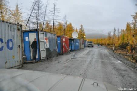 Тенькинская трасса, лагерь дорожников