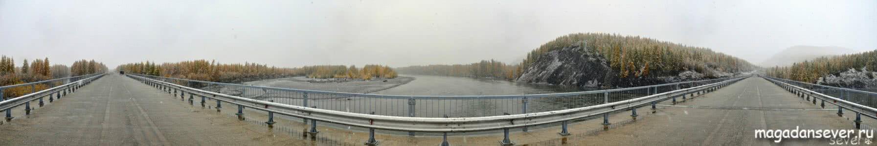 Панорама, мост через Кулу