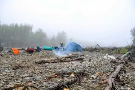 Лагерь на слиянии р. Иганджа и р. Армань